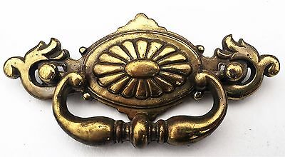 "antique hardware vintage drawer pull brass Chippendale batwing 2 1/4"" centers"