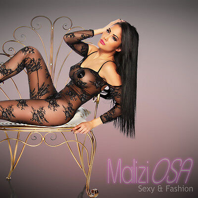 CATSUIT Bodystocking Aperta Ouvert SEXY Hot Lingerie Body Tutina Intimo
