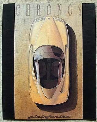 PININFARINA CHRONOS Concept Car Press Pack Brochure Photos 1991