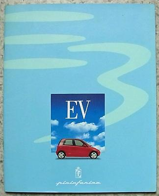 PININFARINA ETHOS 3EV Electric Car Press Media Pack Slides c1995