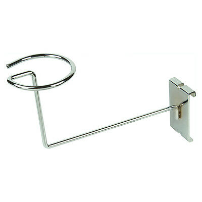 Gridwall Millinery Cap Hat Holder Display  - Chrome - 25 Pieces