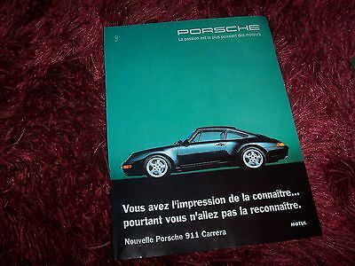 Publicité Magazine / Original French Ad  PORSCHE 911 Carrera //