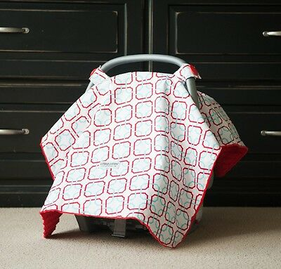 "Carseat Canopy Baby Car Seat Canopy Cover Blanket Cotton Brand New "" Tyler """