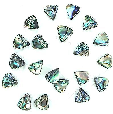 NATURAL Abalone Triangle TopDrilled ~18 to 20 Beads ap14mm K2208