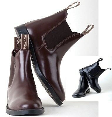 Classic Childs/childrens/kids Leather Jodhpur Boots. Black or Brown. All sizes!