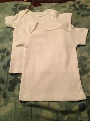 2 New White Tee Shirts! Very Soft And Stretchy! 6 months