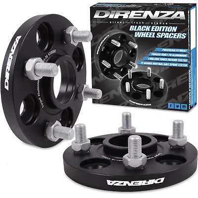 DIRENZA BLACK FORGED WHEEL SPACERS 15MM 4x100 M12x1.5 FOR HONDA CIVIC CRX JAZZ