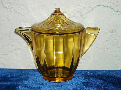 Akro Agate Large Interior Panel Teapot and Lid As Is  Topaz
