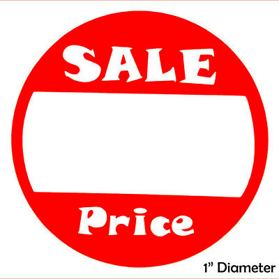 """Self-Adhesive Sale Price Round Retail Labels, 1"""" Diameter Sticker Tags, 500 Pack"""
