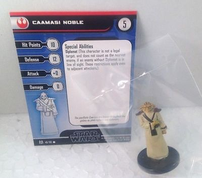 Star Wars Force Unleashed 48/60 Caamasi Noble (C) Miniature