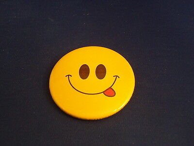 "SMILEY (HAPPY) FACE - ""WISE GUY"" Lot of 12 BUTTONS  pins pinbacks 2 1/4""  badges"
