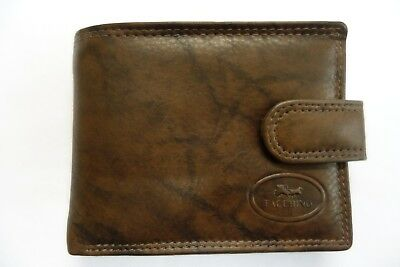 Gents Soft Real Calf Leather Wallet Top Quality Bifold with Change Pocket