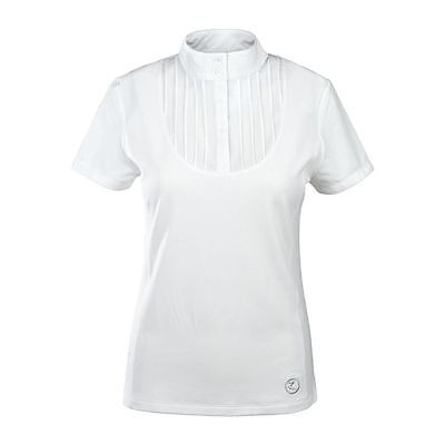 HORZE PLEATED COMPETITION SHOW SHIRT WHITE all sizes