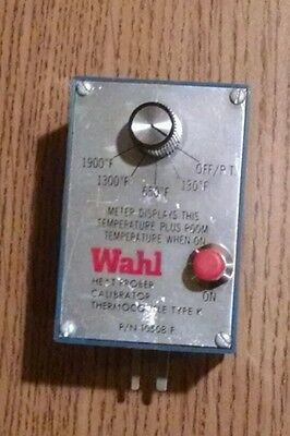 Wahl heat prober calibrator thermocouple type K
