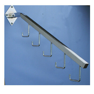 18 L Chrome 7 Ball Wall Mount Waterfall Square Tube Faceout Hook 10 Pack