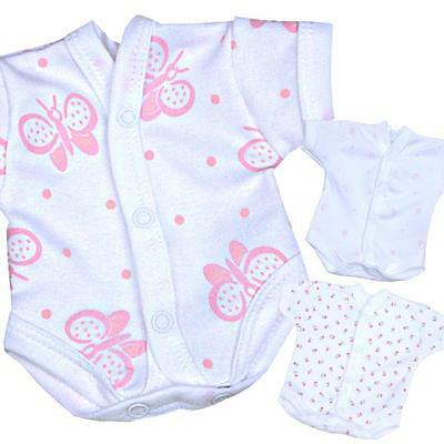 BabyPrem Premature Tiny Baby Girls Clothes Neonatal SCBU NICU Bodysuit Vests
