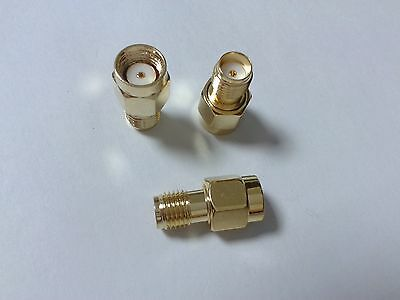 100 pcs SMA female jack to RP-SMA male jack center RF coaxial connectors