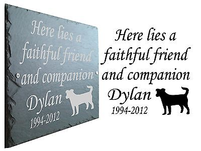 Pet Memorial Slate Plaque, Personalised for your Jack Russell