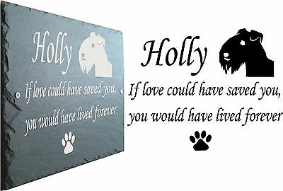 Pet Memorial Slate Plaque, Personalised for your Airedale Terrier