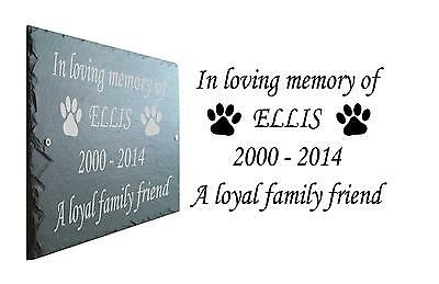 Pet Memorial Slate Plaque Personalised for Dog - Cat or Four legged Friend