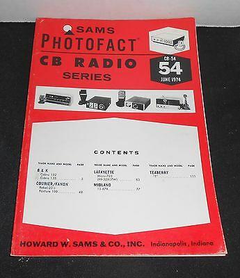 SAMS Photofact CB Radio Series 54 B