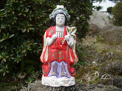 "Japan antique hanamaki doll wore beautiful girl feature ""when shake sound"" #473"