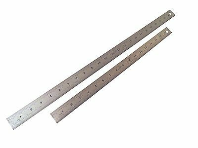 """18"""" and 24 """" 4R (1/8, 1/16, 1/32, 1/64) Stainless Steel Machinist Ruler / Rule"""