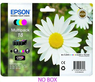 Epson 18 Daisy Multipack Claria  Ink Cartridges T1801 T1802 T1803 T1804 T1806