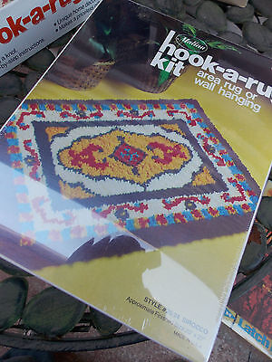 Vintage Malina Hook-a-Rug Kit Latch Hook Wall Hanging SIROCCO NEVER OPENED