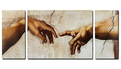 MICHELANGELO Creation of Adam Bild 3 teilig