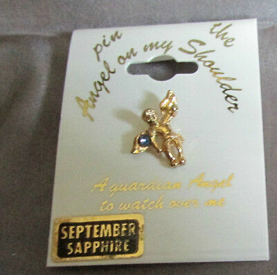 The Angel On My Shoulder September Blue Sapphire Lapel Pin