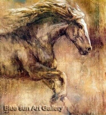 Modern Handmade Horses oil painting Signed on canvas abstract art series LB106