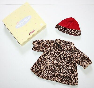 NEW NIB Bitty Baby CHOCOLATE CHERRY Leopard Holiday Coat Hat for Dolls Jacket