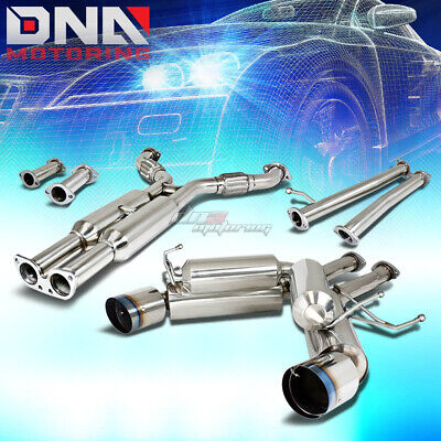 """4.5""""dual Burnt Tip Stainless Exhaust Catback System For 350Z/g35 Fairlady Z33"""