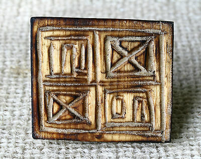 Antique Hand Carved Wooden Orthodox Ritual Holly Bread Stamp- Prosphora  #2