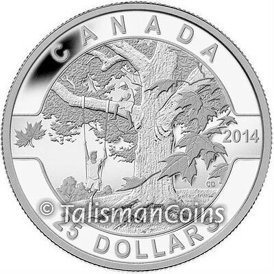 2014 Proof $10 O Canada #5-Down By The Old Maple Tree COIN/&COA ONLY .9999 silver