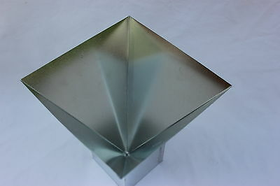 "4"" x 4"" Four Sided Pyramid CANDLE MOLD Metal NEW"