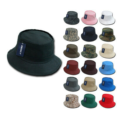 100 NEW Fisherman's Bucket Hat Hats Constructed Cotton Decky Wholesale Lot