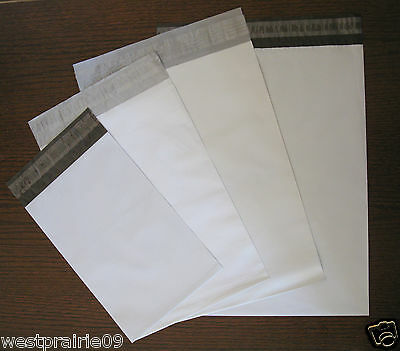 "40 Poly Mailers Assorted Size 6""-10"" Self Seal Plastic Shipping Bags Envelopes"