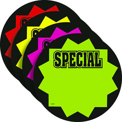 """2/""""x3.5 100pk Fluorescent Price Neon Retail Tags Cards Signs NEW"""