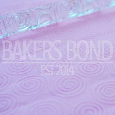 Double Swirl Texture Embossing Acrylic Rolling Pin Cake Icing Decorating Tool