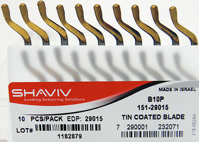 10pcs Type B10P HSS TiN Coated Deburring Replacement Blades Shaviv EDP #29015