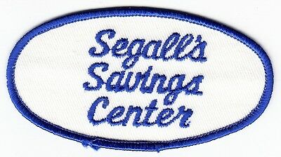 SEGALL'S SAVINGS CENTER - Vintage STORE PATCH