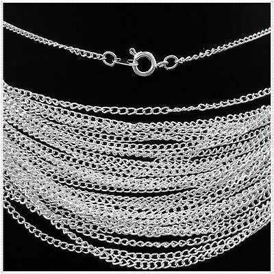 """Lot of 100pcs Silver plated chain finding Long Necklace 22"""",2mmS"""