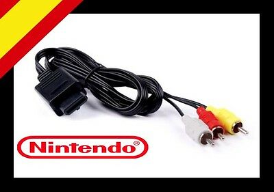 "Cable Audio Video Av Rca Super Nintendo 64 Gamecube N64 Snes Ngc ""nuevo"""