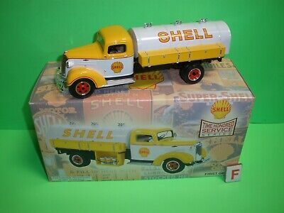 2002 SHELL OIL 1st FIRST GEAR 19-2821 / 1937 CHEVY TANKER #2 NEW 1:34 Die Cast B