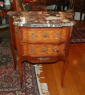 French Commode with Marble Top. Circa 1920.
