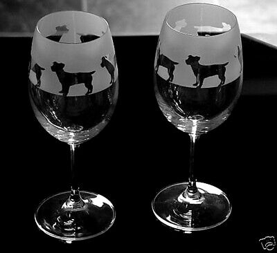 Jack Russell terrier Dog Wine Glasses classic tulip shape