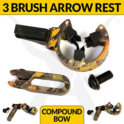 Brand New Camo Three Brush Arrow Rest For Compound Bows By Apex Hunting Archery