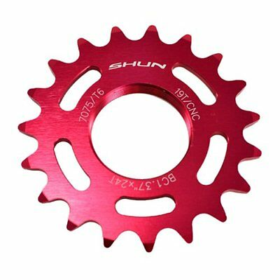 Pink Taiwan Made 16T Tooth 7075 Alloy Fixie Fixed Gear Track Cog